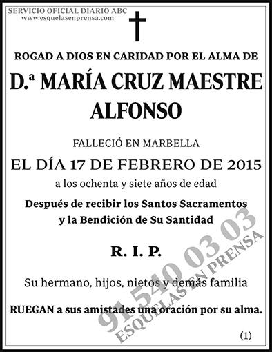 María Cruz Maestre Alfonso